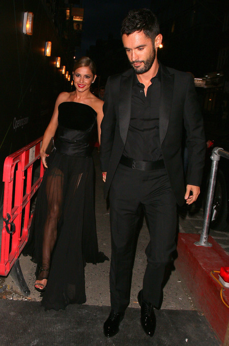 Cheryl Cole and Jean Bernard Fernandez Versini - husband - wedding party - london - black dress - handbag.com