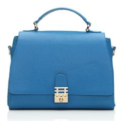Florian London - Vienna Top Handle Bag - Blue - buy it on your break - handbag.com