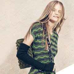m missoni aw14 campaign - green bag - shopping bag - handbag